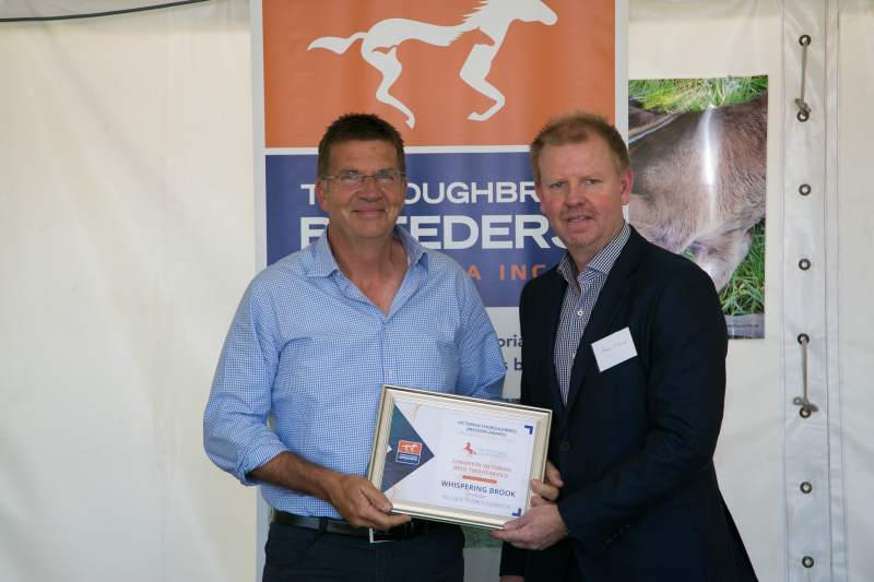 Peter Ford and TBV president James O'Brien